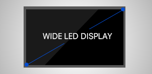Wide LED Display